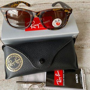 NWT RB 2140 Polarized Leopard Sunglasses 50mm